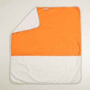 Prekrivač za bebe (pamuk-pliš) narandžasti