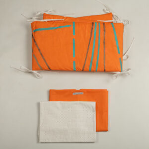 Ogradica za krevetiće za bebe – narandžasta igra 1
