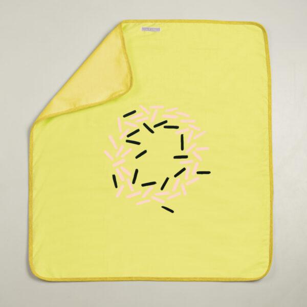 Prekrivač za bebe (dvoslojni) limun-roze