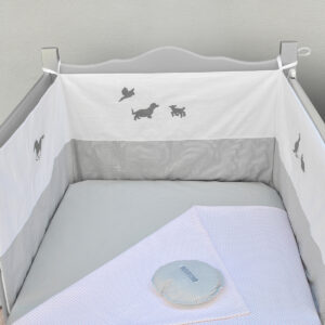 Ogradica za krevetić za bebe – Životinjska farma 1